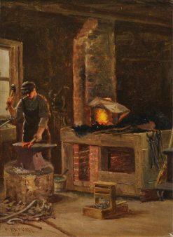 The Blacksmith | William Raphael | Oil Painting