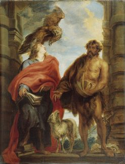 Saints John the Evangelist and John the Baptist | Anthony van Dyck | Oil Painting