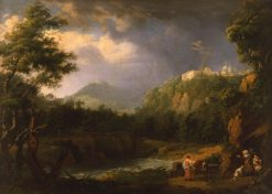 Landscape with Women and a Donkey | Jakob Philipp Hackert | Oil Painting