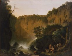 Waterfall at Tivoli | Jakob Philipp Hackert | Oil Painting