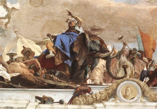 Allegory of the Asian Continent (detail) | Giovanni Battista Tiepolo | Oil Painting