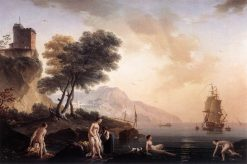 Girls Bathing at the Seashore | Claude Joseph Vernet | Oil Painting