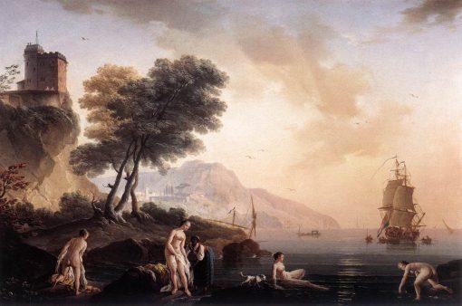 Girls Bathing at the Seashore | Claude Joseph Vernet | Oil Painting