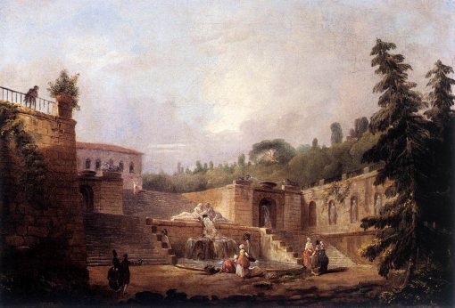 Fountain on a Palace Terrace | Hubert Robert | Oil Painting