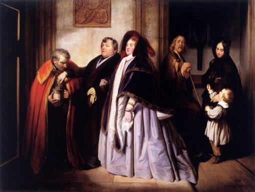 The Widow's Offering | Josef Franz Danhauser | Oil Painting