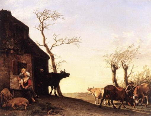 Driving Cattle to Pasture in the Morning | Paulus Potter | Oil Painting