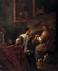 The Drawing Lesson | Jacob Ochtervelt | Oil Painting