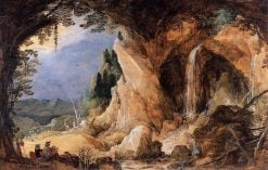 Landscape with Grotto | Joos de Momper the Younger | Oil Painting