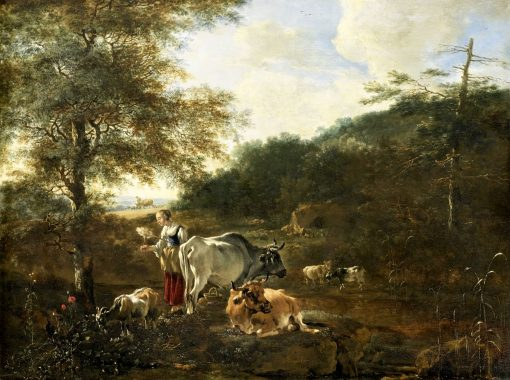 Landscape with Cattle | Adam Pynacker | Oil Painting