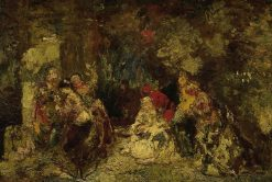 Women in a Forest | Adolphe Joseph Thomas Monticelli | Oil Painting