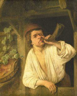 Man Playing a Horn | Adriaen van Ostade | Oil Painting