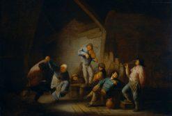 The Dancing Pair | Adriaen van Ostade | Oil Painting
