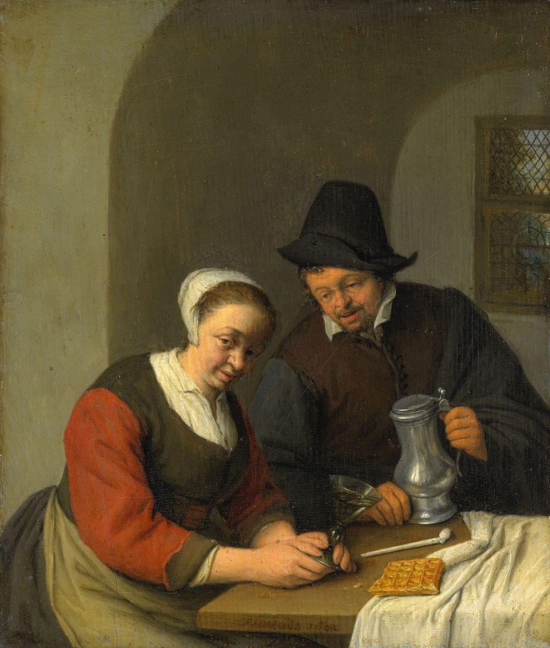 Drinking Couple | Adriaen van Ostade | Oil Painting