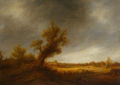Landscape with an Old Oak Tree | Adriaen van Ostade | Oil Painting