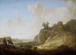 Mountainous Landscape with the Ruins of a Castle | Aelbert Cuyp | Oil Painting