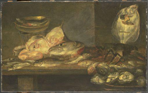Still Life with Fish   Alexander Adriaenssen   Oil Painting
