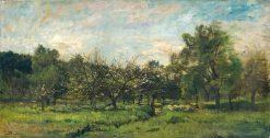 Orchard Landscape | Charles Francois Daubigny | Oil Painting
