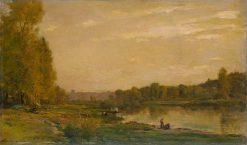 Landscape on the Oise   Charles Francois Daubigny   Oil Painting