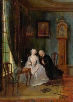 Love Scene   Cornelis Troost   Oil Painting