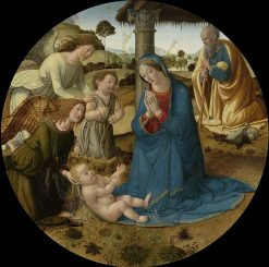 The Adoration of the Child Jesus   Cosimo Rosselli   Oil Painting