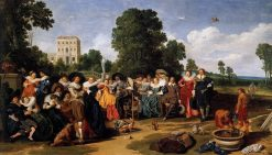 A Garden Party | Dirck Hals | Oil Painting