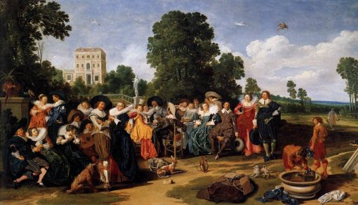 A Garden Party | Dirck Hals | Oil Painting