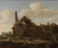 A Ruined Farm | Emanuel Murant | Oil Painting
