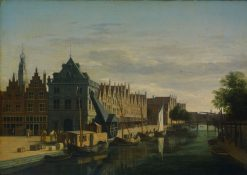 De Waag (Weighing House) and Crane on the Spaarne