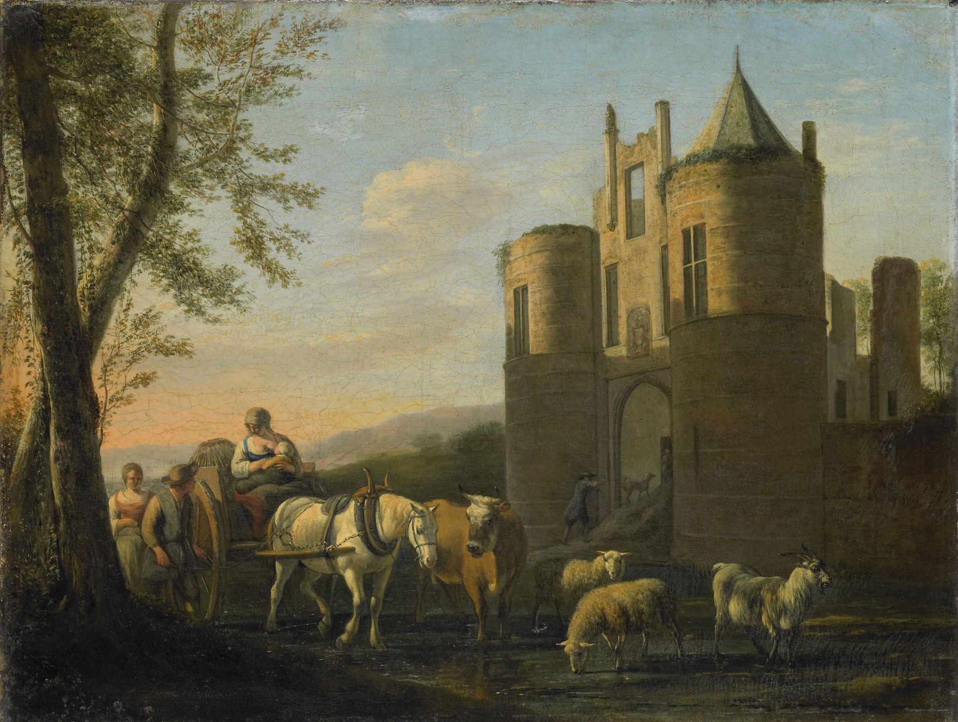 The Main Gate to Egmond Castle | Gerrit Adriaensz.Berckheyde | Oil Painting