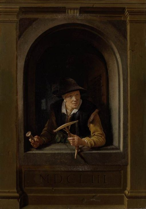 A Fisherman's Wife   Gerrit Dou   Oil Painting
