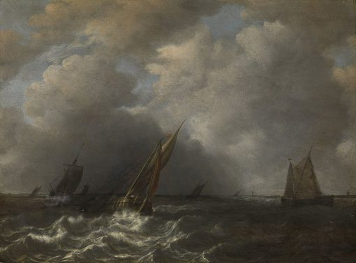 A Storm on the Maas | Hendrik Martensz. Sorgh | Oil Painting