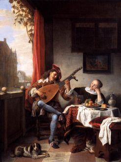 The Lute Player | Hendrik Martensz. Sorgh | Oil Painting