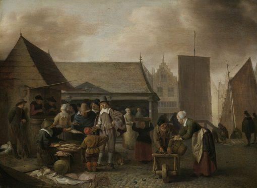 A Market Scene in Amsterdam | Hendrik Martensz. Sorgh | Oil Painting