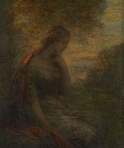 Young Woman under a Tree at Sunset(also known as 'Autumn') | Henri Fantin Latour | Oil Painting