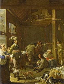 Soldiers in a Stable | Jacob Duck | Oil Painting