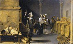The Wine Connoisseurs | Jacob Duck | Oil Painting