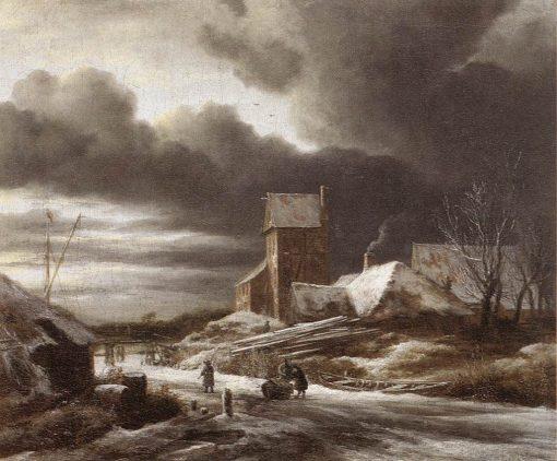 Winter Landscape   Jacob van Ruisdael   Oil Painting