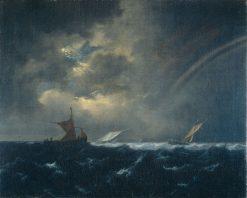 Ships in a Rough Sea | Jacob van Ruisdael | Oil Painting