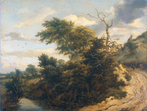 Sandy Track in the Dunes   Jacob van Ruisdael   Oil Painting