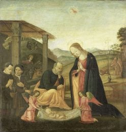 The Adoration of the Child | Jacopo del Sellaio | Oil Painting