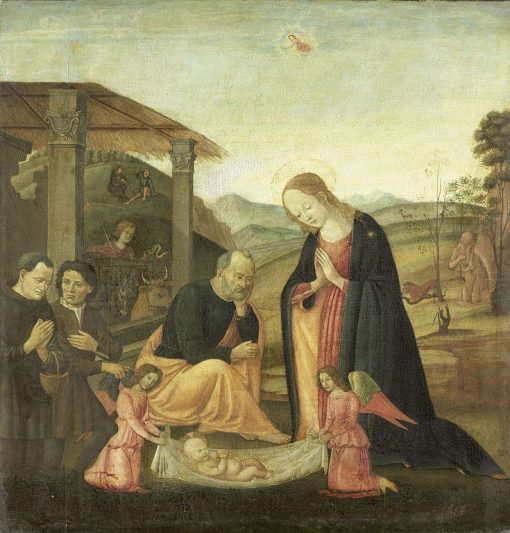 The Adoration of the Child   Jacopo del Sellaio   Oil Painting