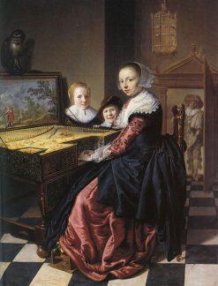 Woman Playing a Virginal | Jan Miense Molenaer | Oil Painting