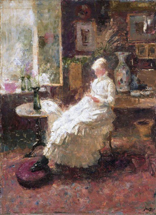 Portrait of Annie Hall te Lissadell (1860-1929)   Jan Toorop   Oil Painting