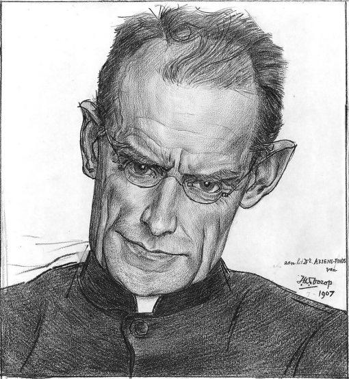 Portrait of Dr. Alphonse Marie Auguste Joseph Ariens | Jan Toorop | Oil Painting