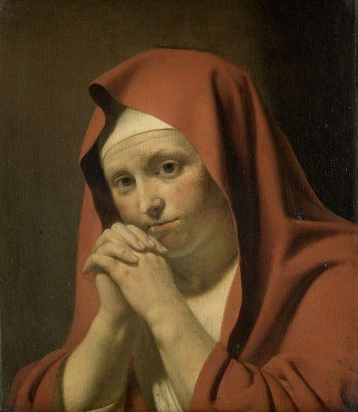 Woman in Prayer   Jan van Bijlert   Oil Painting