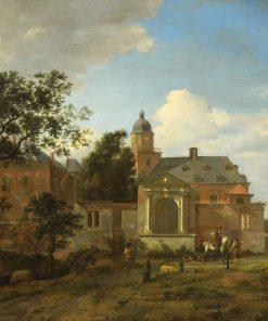 Landscape with Church | Jan van der Heyden | Oil Painting
