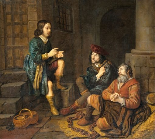 Joseph Interprets the Dreams of the Baker and the Butler | Jan Victors | Oil Painting
