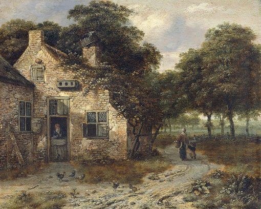 A Peasant Cottage | Jan Wijnants | Oil Painting