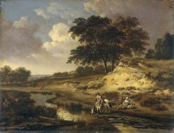 Landscape with a Rider Watering His Horse | Jan Wijnants | Oil Painting