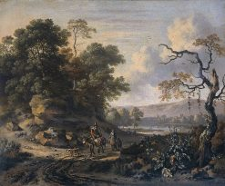 Landscape with Donkey Rider | Jan Wijnants | Oil Painting